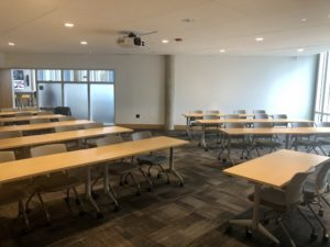 BSC 104 Classroom Style Diagonal Front