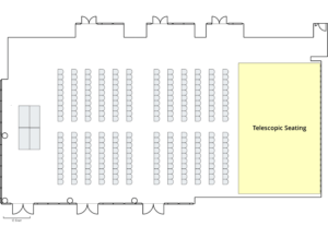 Event Center Lecture with Telescopic Seating