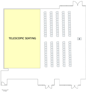 BSC 100 East Lecture with Telesopic Seating