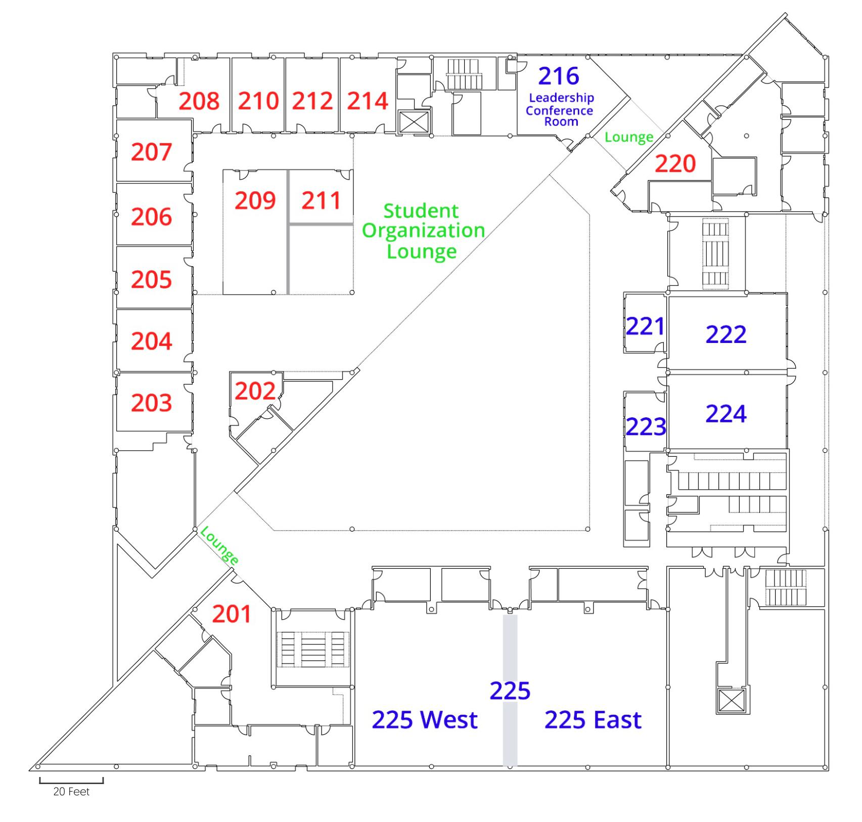 BSC 2nd Floor Plan